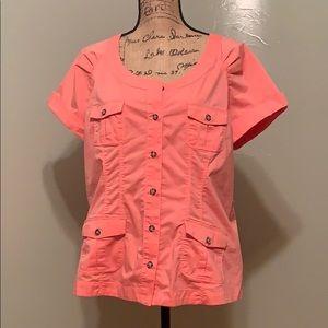 New York & Company size XL cute peach top like new
